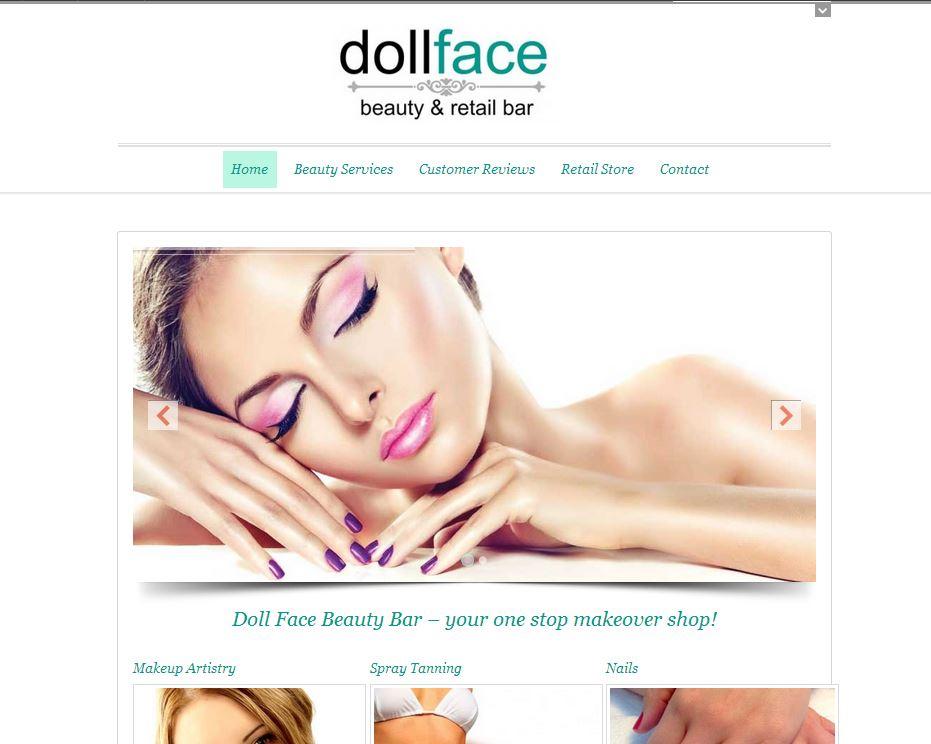 Website Design - Doll Face Beauty Bar