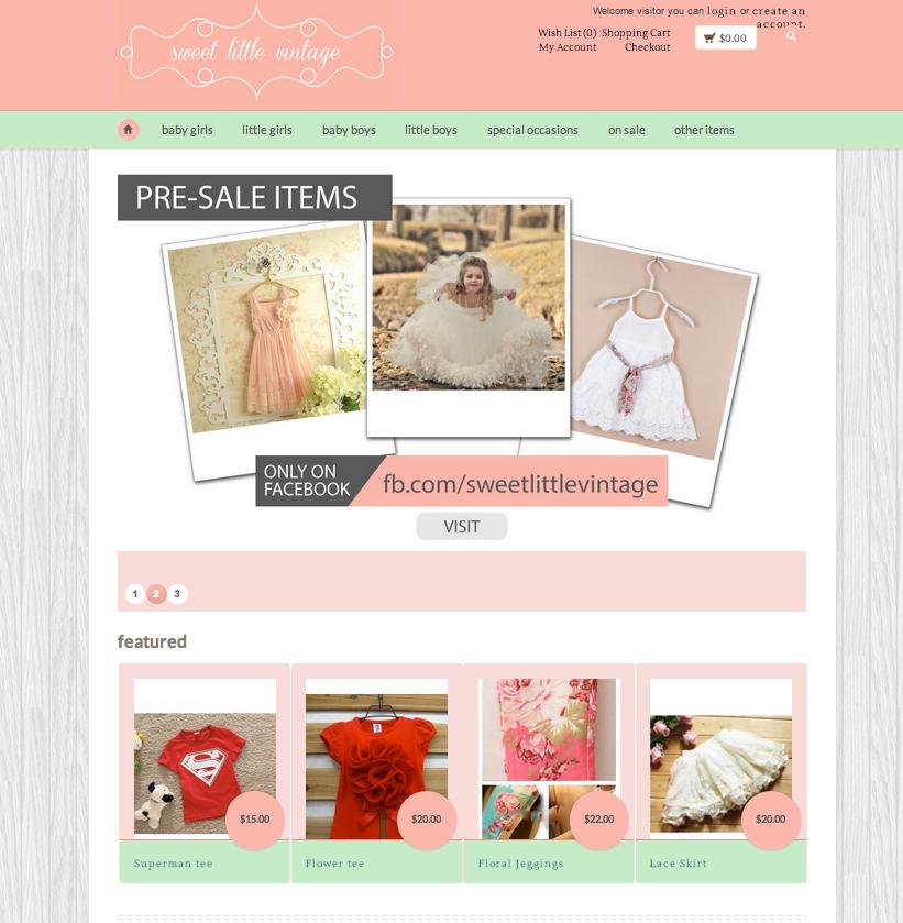 Website Design - Sweet Little Vintage
