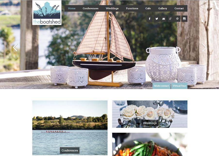 Website Design - The Boatshed Cafe