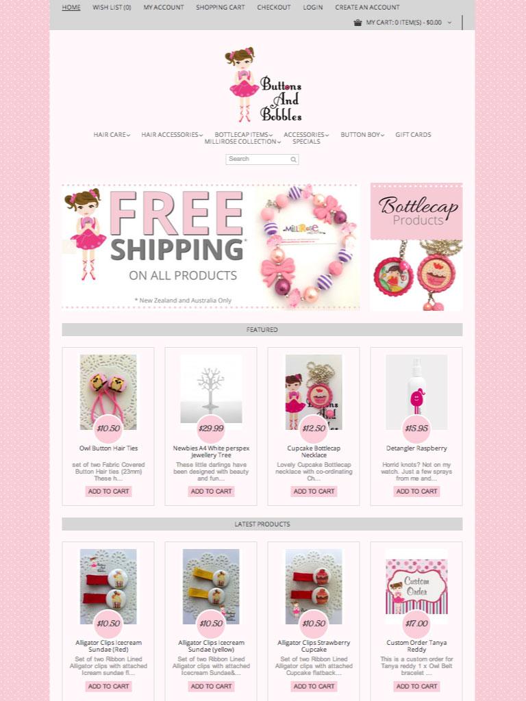 Website Design - Buttons & Bobbles