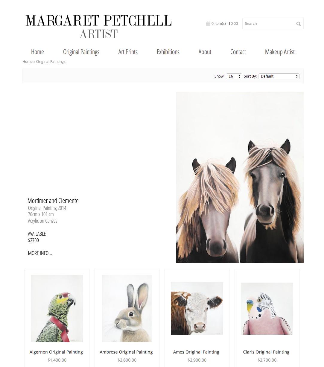 Website Design - Margaret Petchell Artist