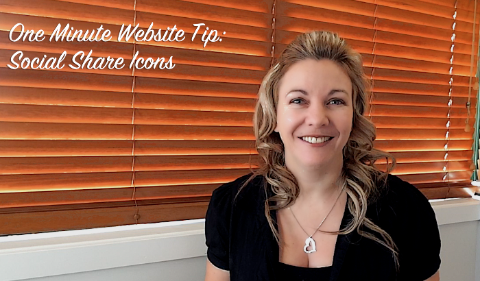 One Minute Website Tip - Social Share Icons