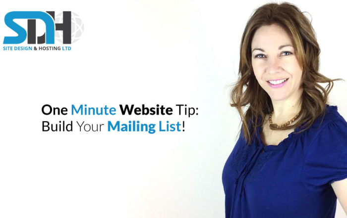 One Minute Website Tip - Website Opt-in Form