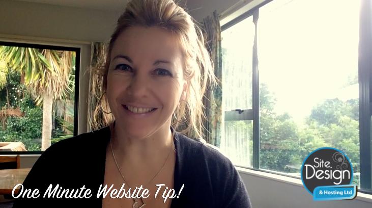 # 1 – One Minute Website Tip