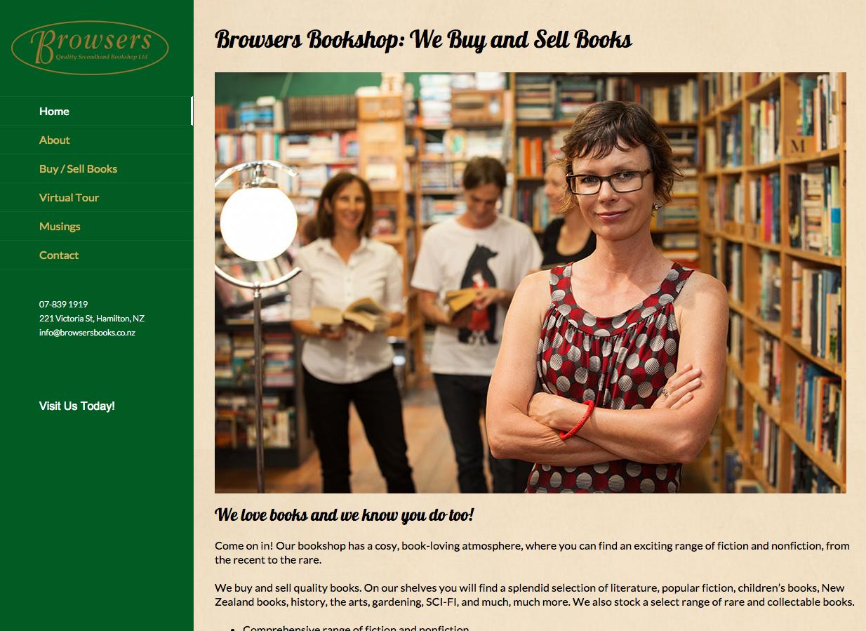 Website Design - Browsers Bookshop