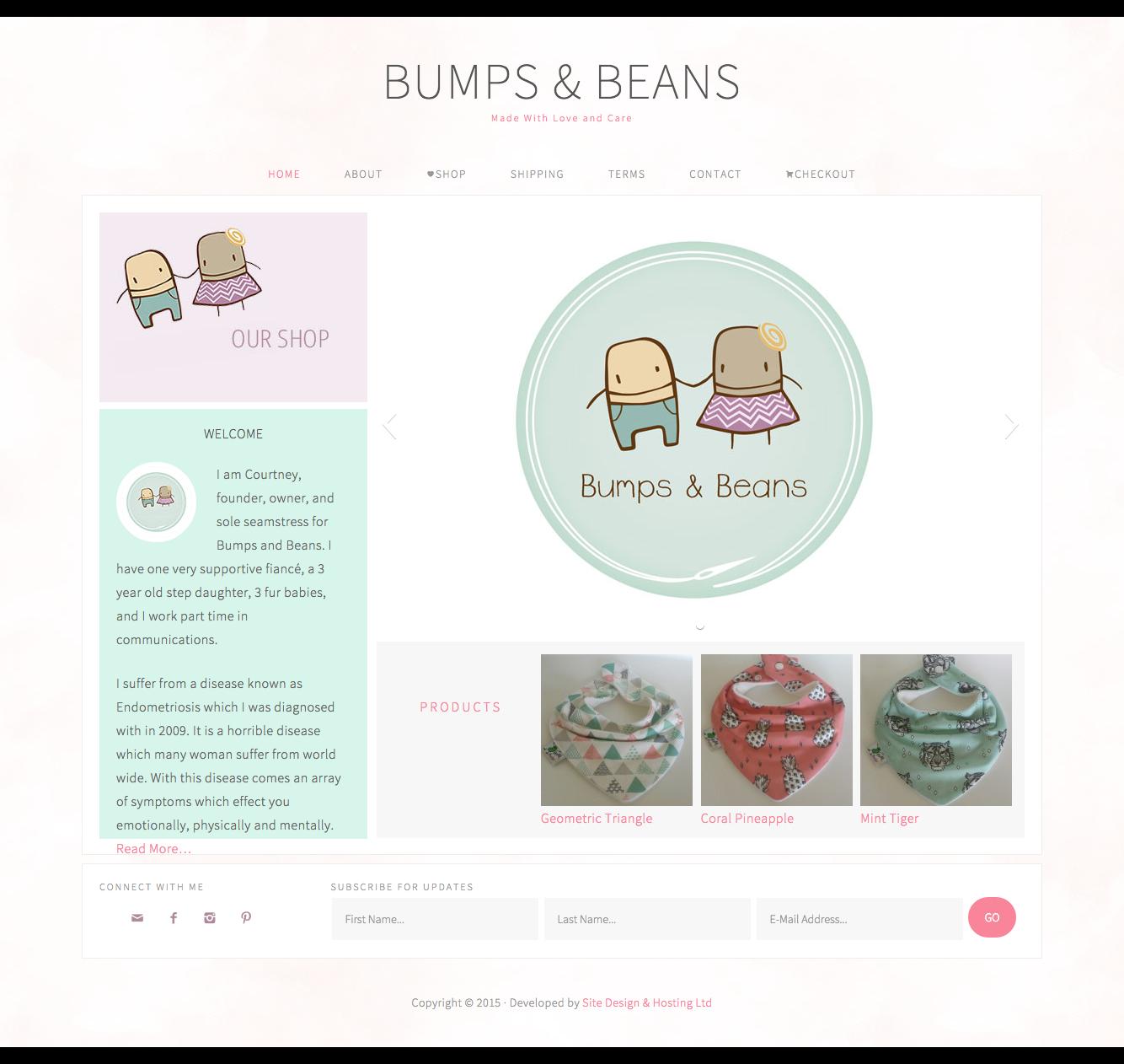 Website Design - Bumps & Beans
