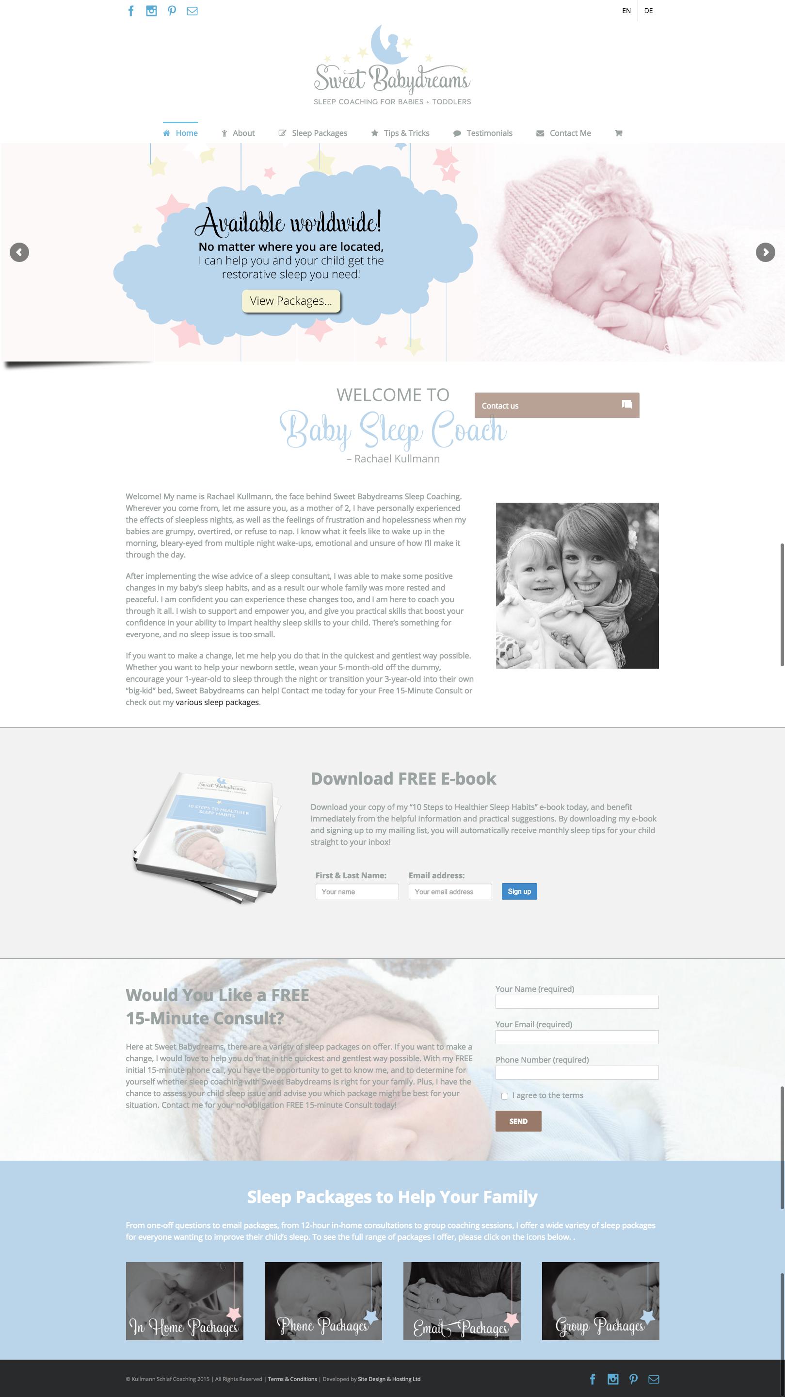 Website Design - Baby Sleep Coach