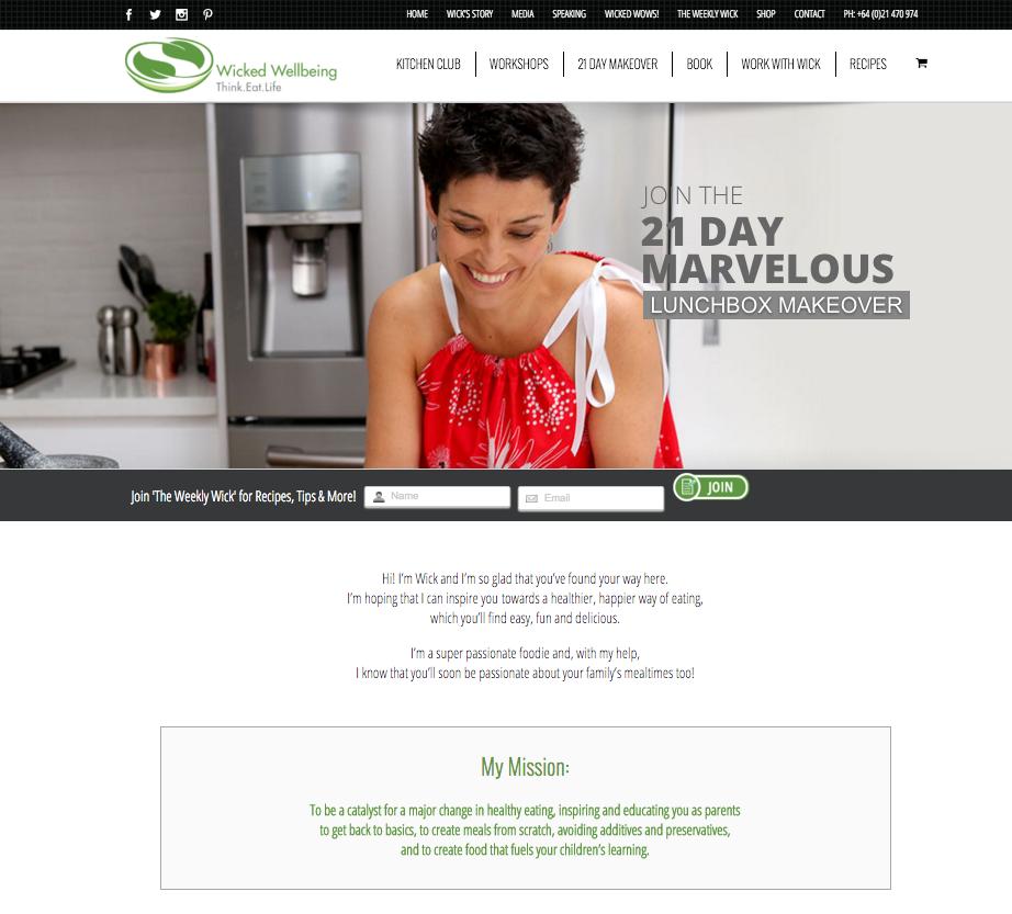 Website Design - Wicked Wellbeing